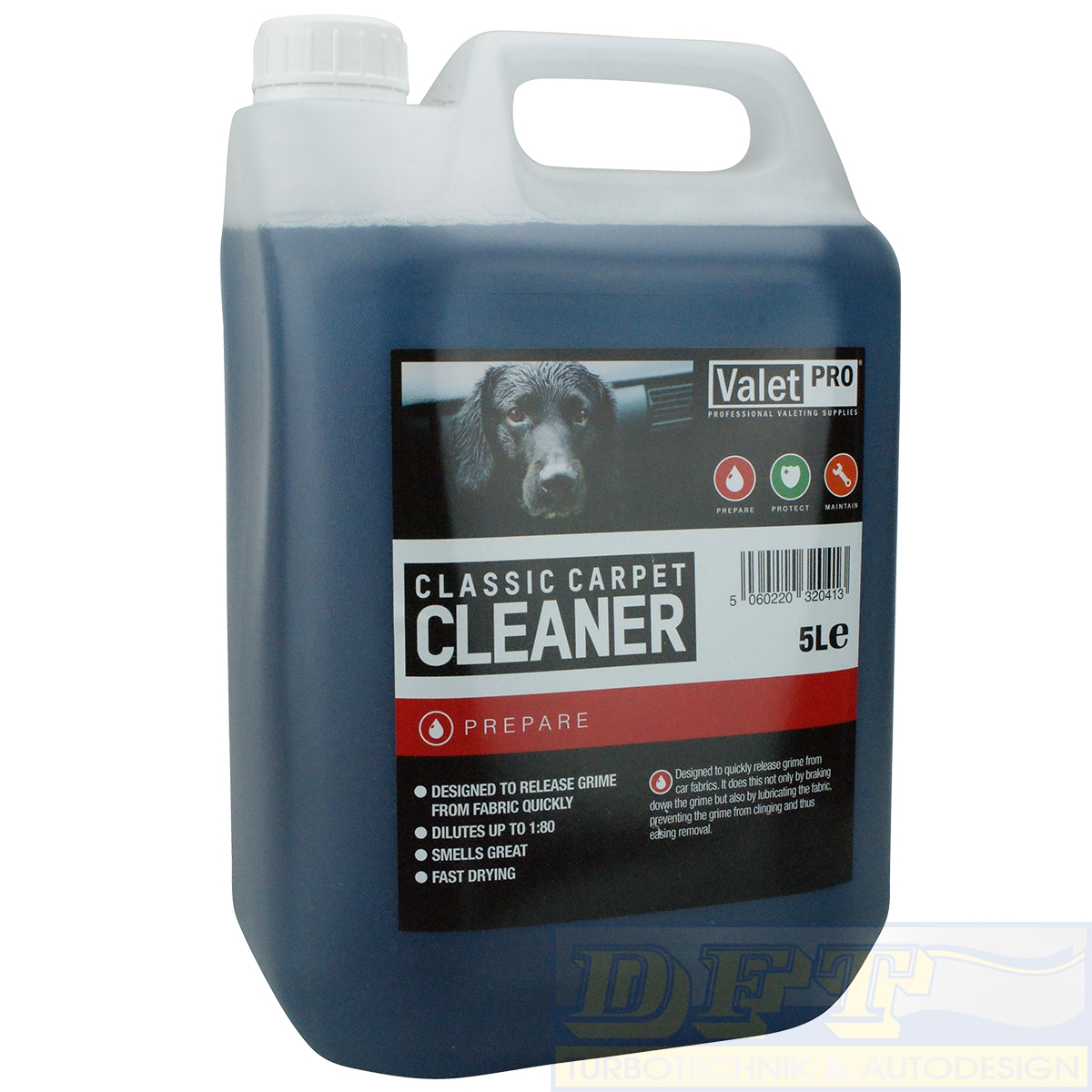 valetpro classic carpet cleaner teppich 5 liter kanister 3 96 eur liter ebay. Black Bedroom Furniture Sets. Home Design Ideas
