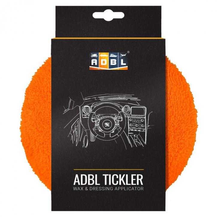 ADBL Tickler Microfaserauftragspad orange/weiß 16 cm