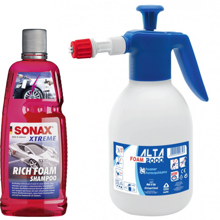 Alta Foam 2000 Schaumsprüher inkl. SONAX XTREME RichFoam Shampoo Snow Foam 1 Liter