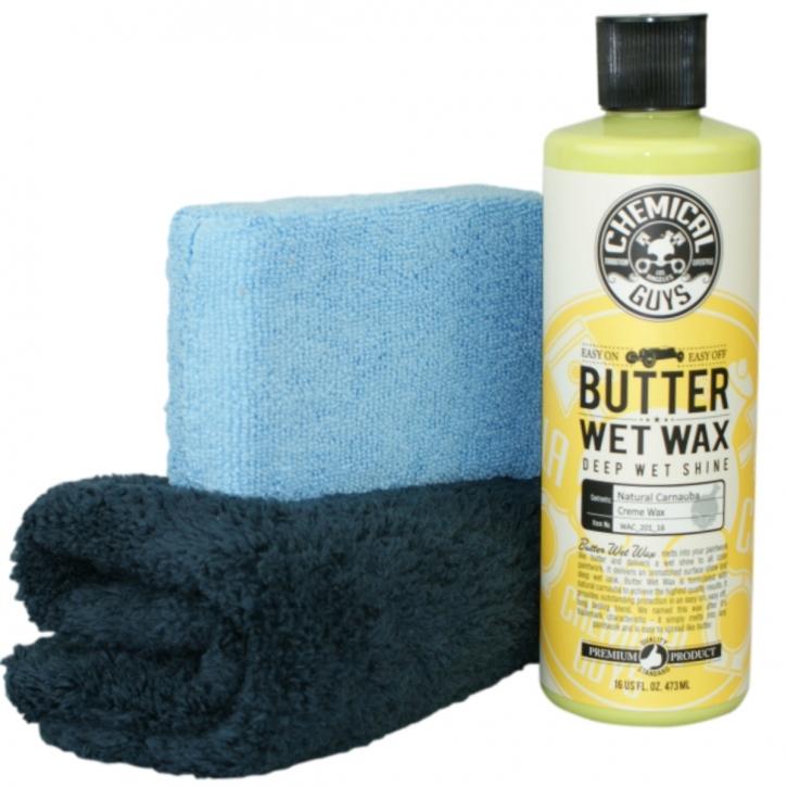 Chemical Guys Butter Wet Wax -Carnauba Wax im Set