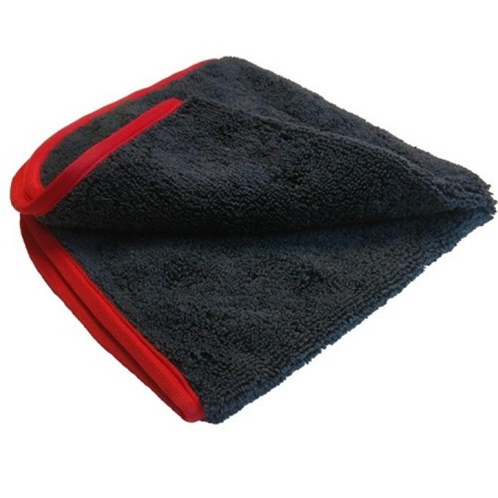 Chemical Guys Premium Red-Line Microfasertuch schwarz mit rotem Rand 40 x 40 cm