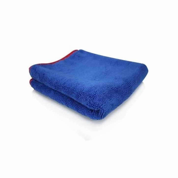 Chemical Guys Fluffer Microfasertuch blau mit rotem Rand 60x40cm