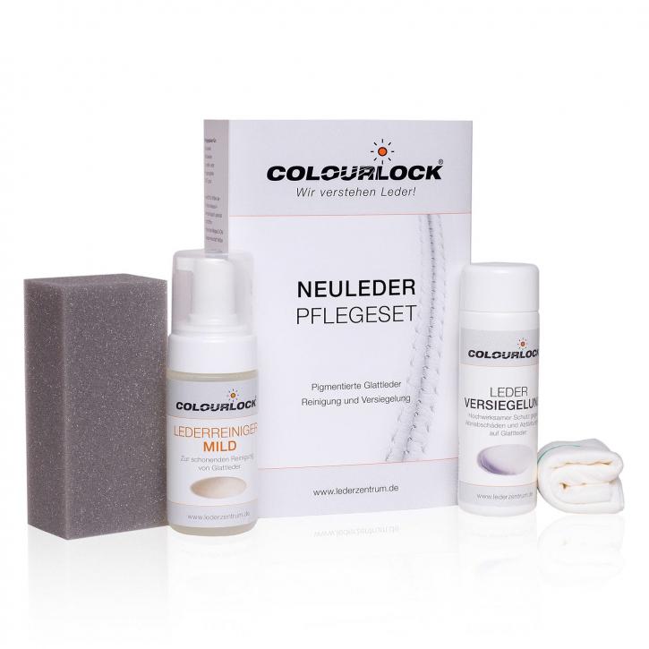 Colourlock Neuleder Pflegeset mild Reiniger, Versiegelung,Schwamm & Tuch