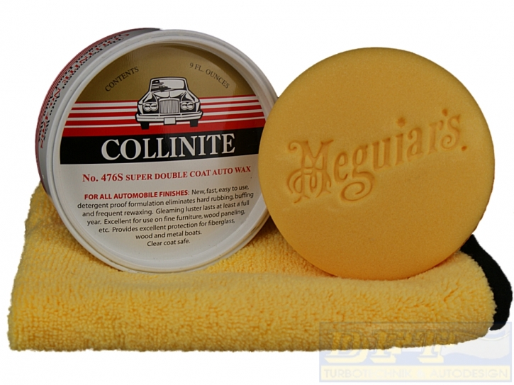 Collinite Double Coat Auto Wachs 476s im Set inkl.Meguiar`s  Pad&Microfasertuch,