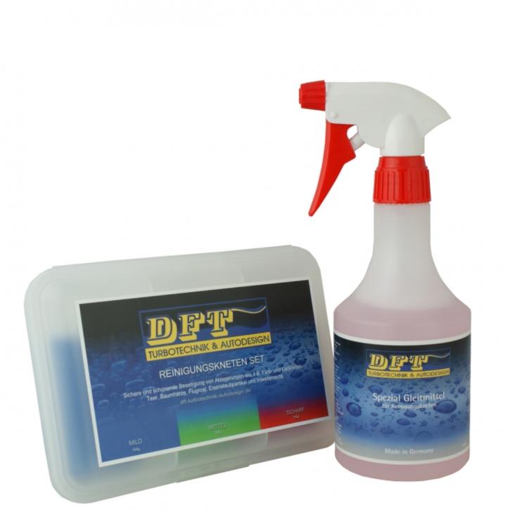 DFT Reinigungsknete 3er Set inkl DFT Spezial Gleitmittel 500 ml
