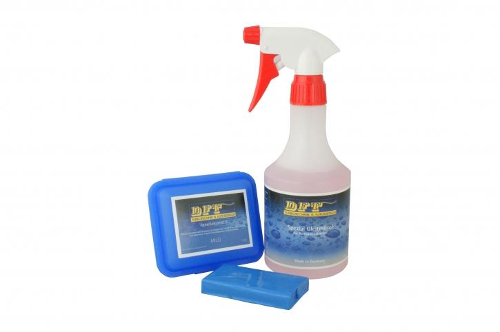 DFT-Reinigungsknete mild blau 100 g inkl Spezial Gleitmittel 500ml
