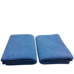 DFT, das gewaffelteTrockentuch Doppelpack,navy blue 2x 55 x 80 cm