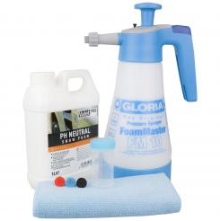 Gloria Foam Master FM10 Schaumsprüher inkl. ValetPRO neutral Snow Foam Shampoo 1 Liter