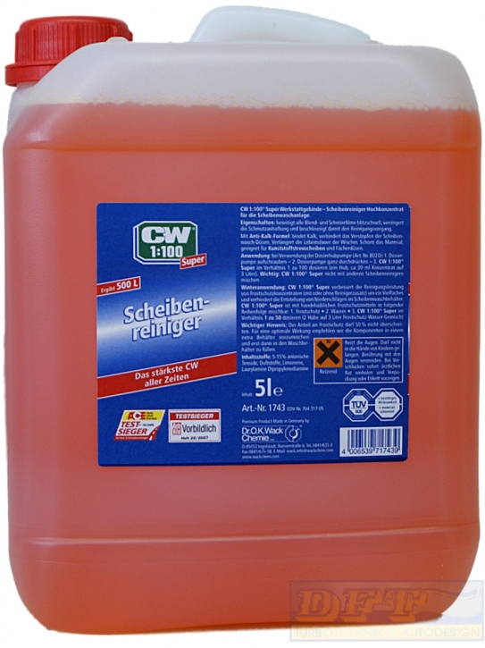 Dr. Wack CW 1:100  Super Scheibenreiniger Konzentrat 5 Liter