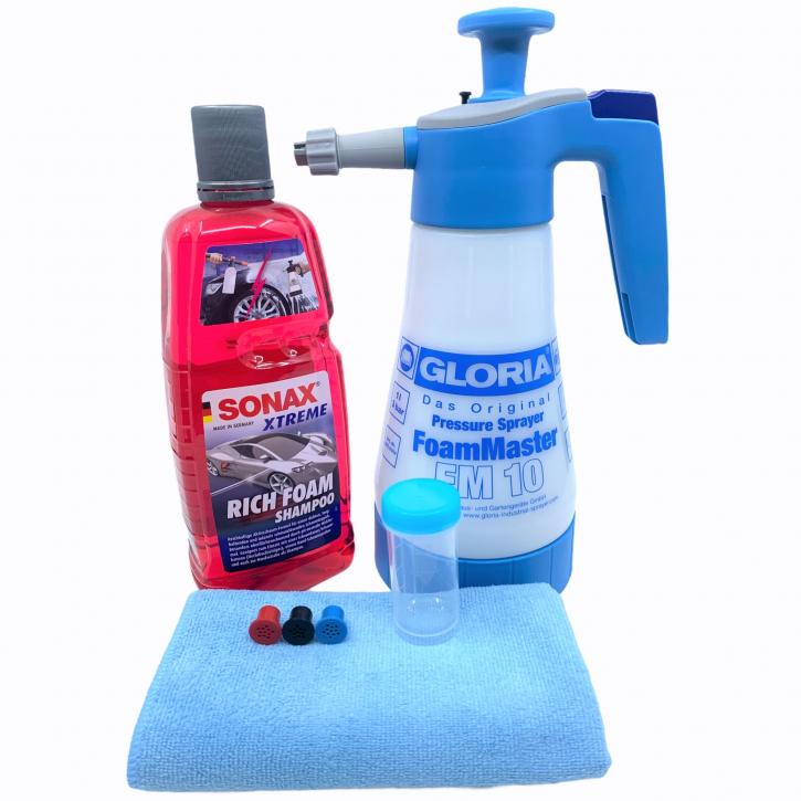 Gloria FM10 Foammaster inkl. Sonax Rich Foam Shampoo,Messbecher & Tuch