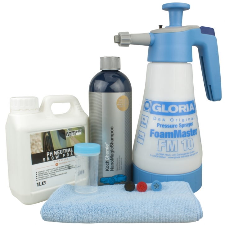 Gloria FM10 Schaumsprüher+Koch Chemie Nano Magic Shampoo ValetPRO Neutral Snow Foam Shampoo 1 Liter