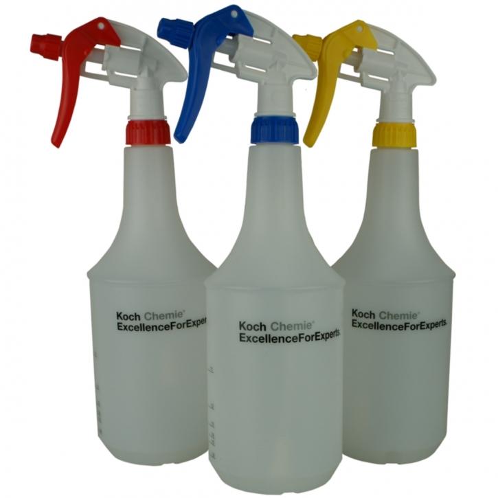 Koch Chemie 1L Zylinderflasche mit DFT-Canyon Sprayer gelb,blau,rot