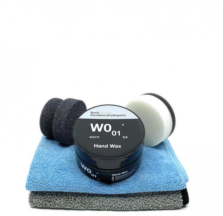 Koch Chemie Hand Wax W0.01 Wachsversiegelung mit Applicator & Tüchern