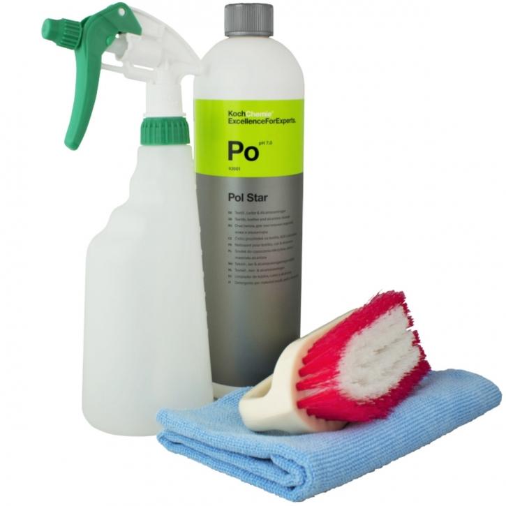 Koch Chemie Po-PolStar Set mit Sprühflasche,Polsterbürste & Tuch