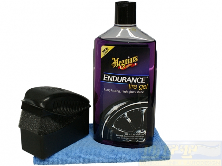 Meguiars Endurance High Gloss Set inkl.Tire Dressing Pad und Microfasertuch,