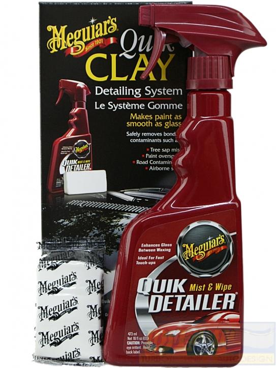 Meguiar´s Quik Clay Set Detailing System mit Reinigungsknete,
