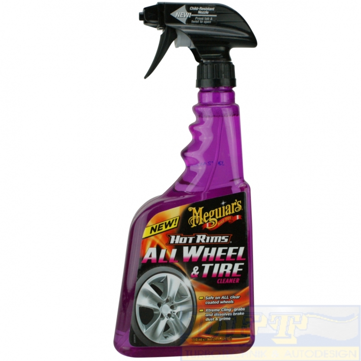 Meguiar`s Hot Rims All Wheel Tire Cleaner Felgenreiniger 710 ml,