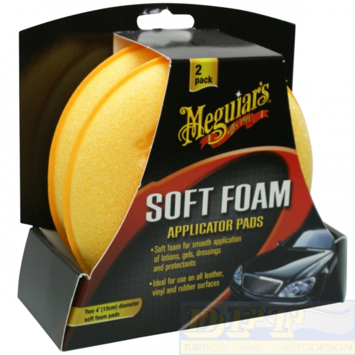 Meguiar`s Soft Foam Applicator Pads Allrounder 2er Pack