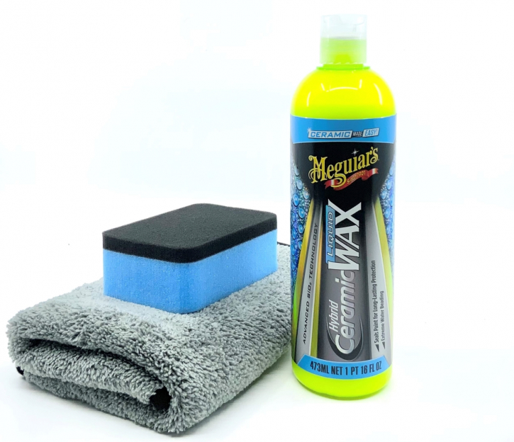 Meguiar`s Ceramic Hybrid Wax Set mit Applicator & Tuch