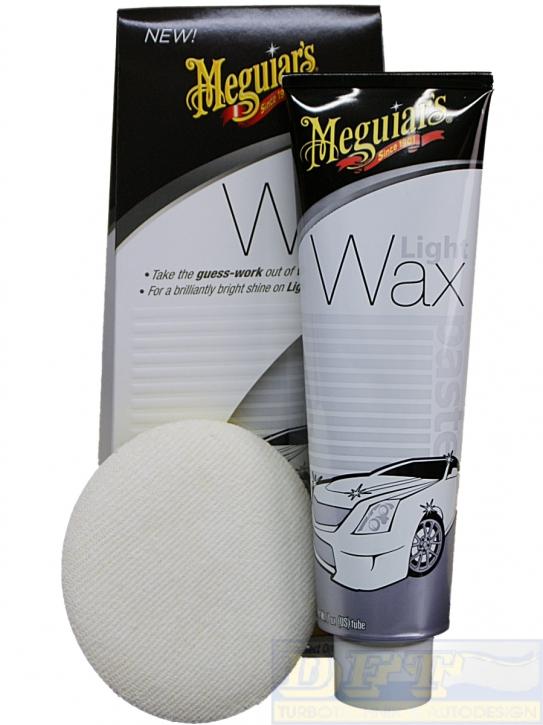 Meguiar´s  Light Wax White Wachs für helle Lacke +Meguiars Pad,