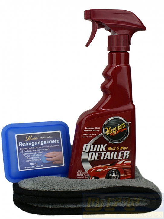 Magic Clean+ Meguiar's Quik Detailer im Paket inkl. Microfasertuch,