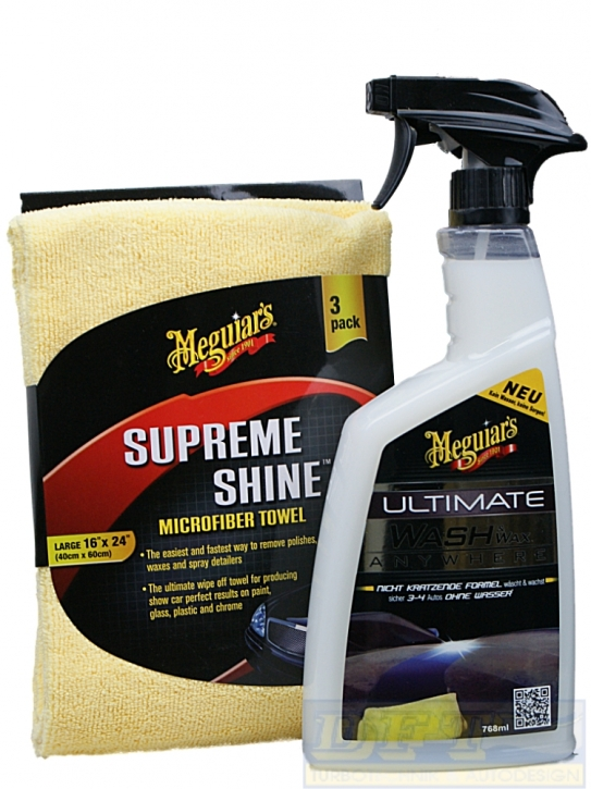 Meguiar´s Ultimate Wash & Wax Anywhere /Kein Wasser keine Sorgen Set