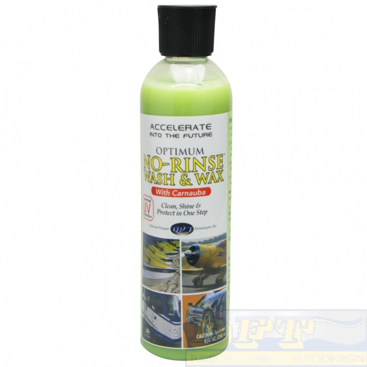 Optimum No Rinse Wash &Wax with Carnauba  237 ml,