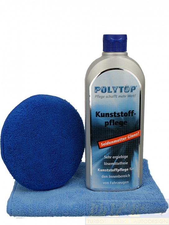 Polytop Kunststoffpflege innen im Set mit DFT Applicator & Microfasertuch,