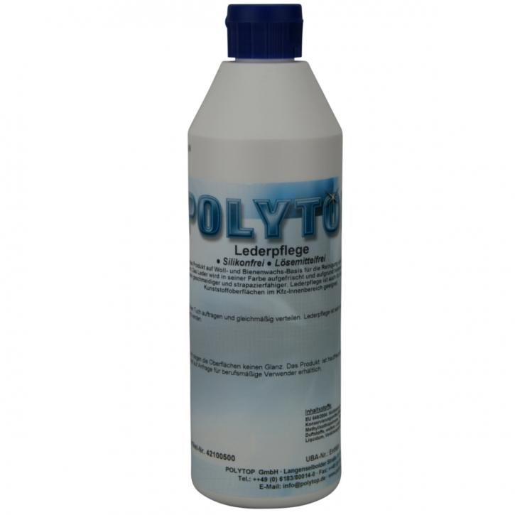 POLYTOP Lederpflege 500 ml  Reiniger und Pflege für Glattleder,