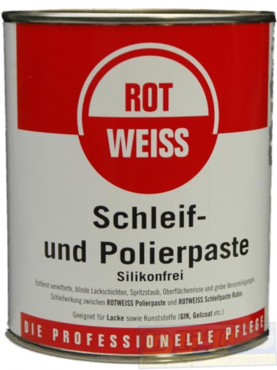 ROTWEISS  Schleif und Polierpaste 750 ml,