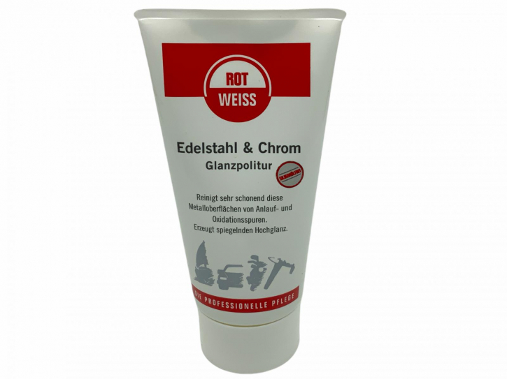 Rotweiss Edelstahl & Chrom Glanzpolitur 150 ml