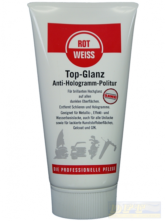 ROTWEISS Top Glanz, Anti- Hologramm Politur 150 ml,