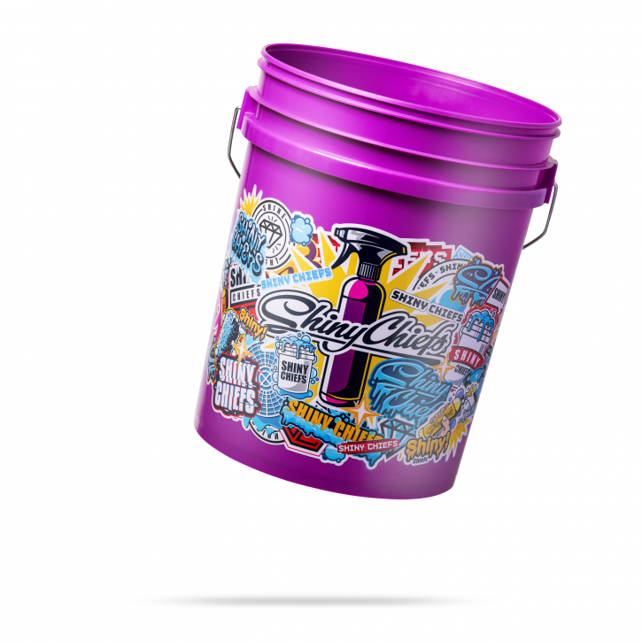Shiny Chiefs Wascheimer Bucket 5 Gallonen Stickerbomb