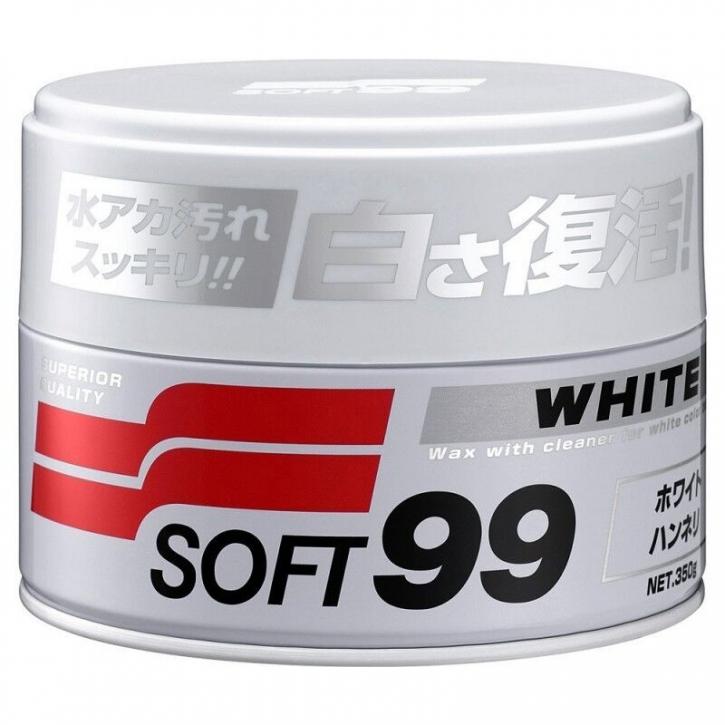 Soft99 White Wax, Hartwax für weiße und helle Lacke 350g