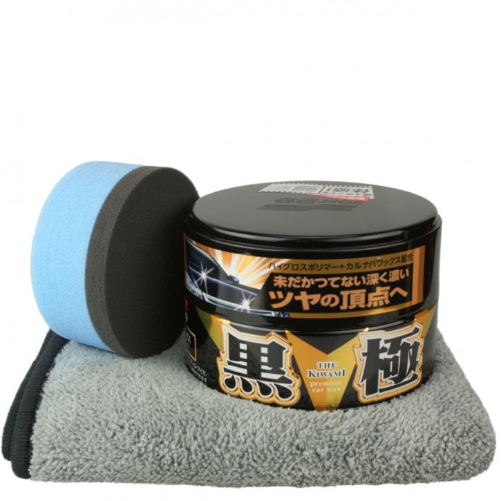 Soft99 Kiwami Extreme Gloss Set mit Tuch & Applicator