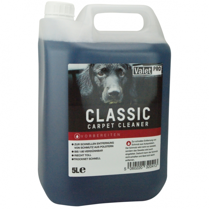 ValetPRO Classic Carpet Cleaner Teppich  5 Liter Kanister