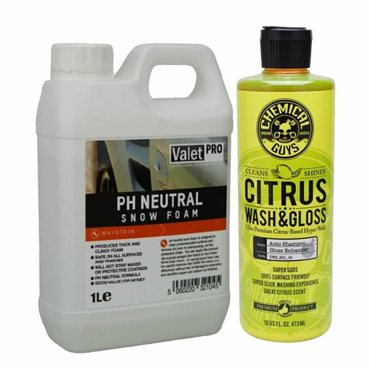 ValetPRO neutral 1 Liter & CG Citrus Wash Gloss 473 ml Set