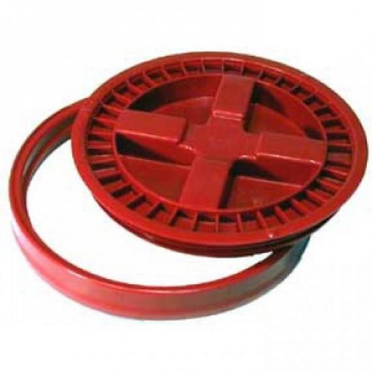 Gamma Seal Cover Lid Wasserdichter Verschluss für Grid Guart Eimer rot