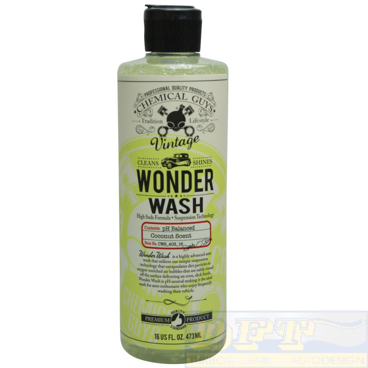 chemical guys vintage wonder wash shampoo 473 ml cws403 16. Black Bedroom Furniture Sets. Home Design Ideas