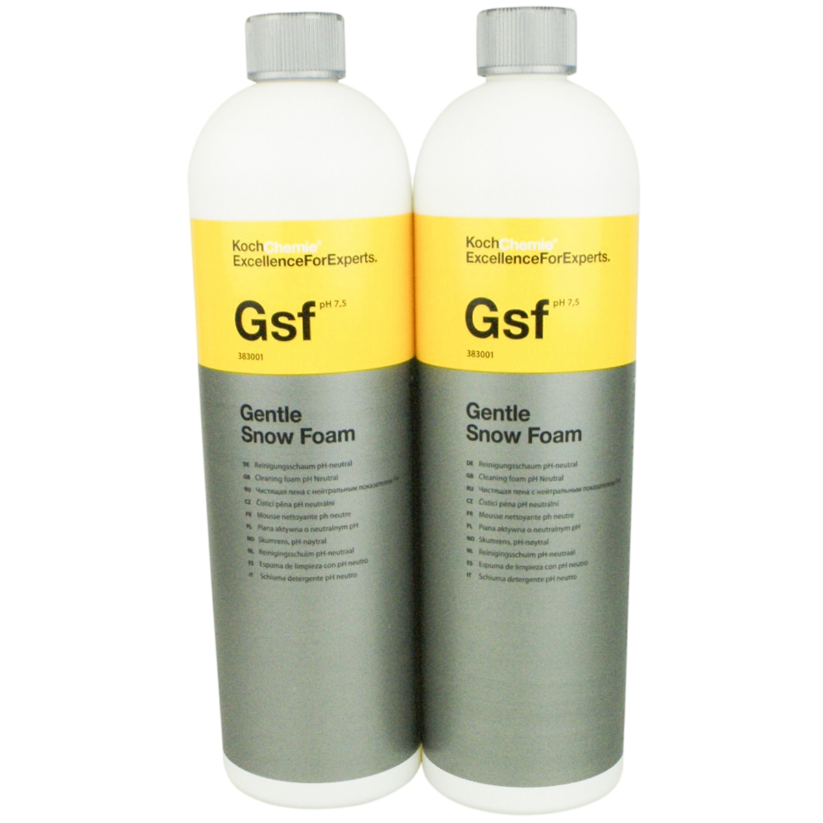 koch chemie gsf gentle snow foam ph neutral 2x1 liter 900185. Black Bedroom Furniture Sets. Home Design Ideas