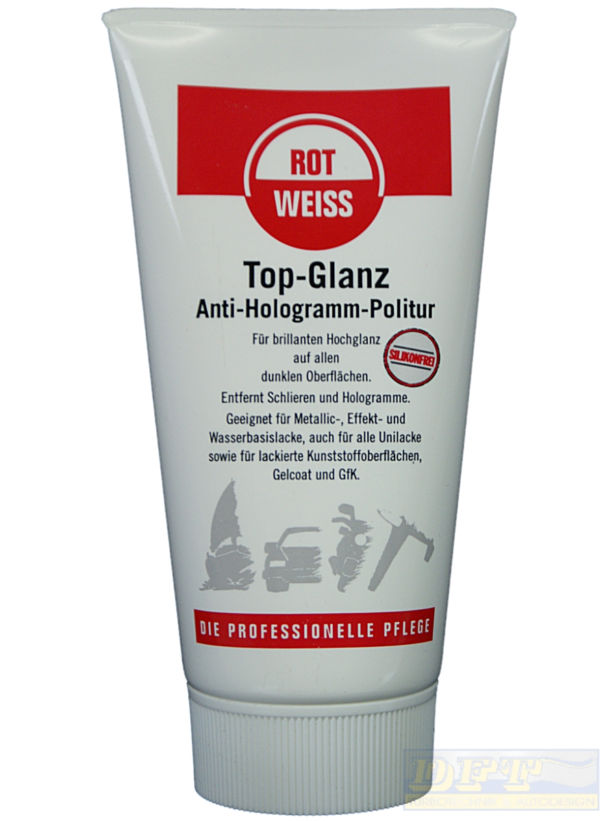 rotweiss top glanz anti hologramm politur 150 ml 700010. Black Bedroom Furniture Sets. Home Design Ideas