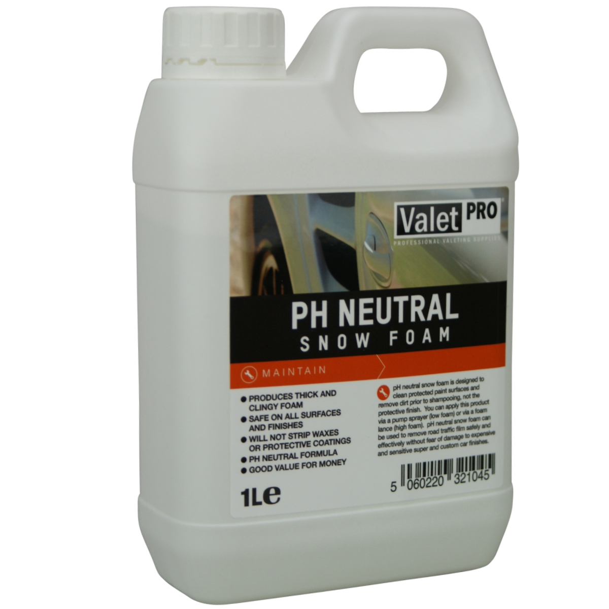 valet pro ph neutral snow foam shampoo 1 liter 670000. Black Bedroom Furniture Sets. Home Design Ideas