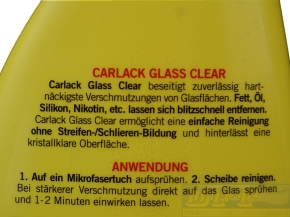 Carlack Car Care  Glass Clear Glasreiniger 500 ml,