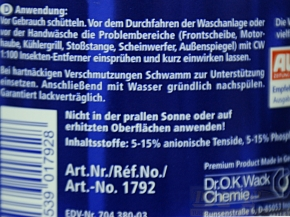 Dr. Wack CW 1:100 Insektenentferner Gel 500 ml,
