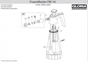 Gloria Foam Master FM10 Dichtungssatz 8 teilig