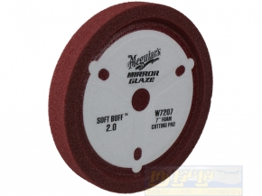 Meguiar`s Soft Buff 2.0 Cutting Pad W7207 Polierschwamm  mit Cutting Power,